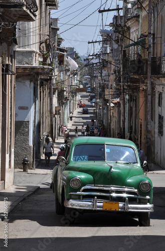 Deurstickers Cubaanse oldtimers Straße in Havanna