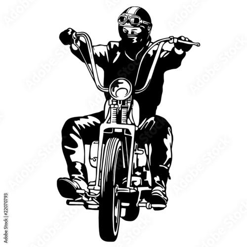 Poster Motocyclette chopper