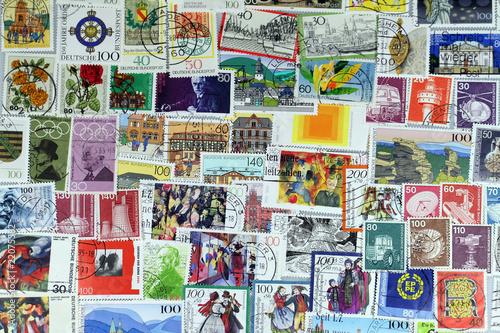 Spoed Foto op Canvas Graffiti collage Briefmarken3