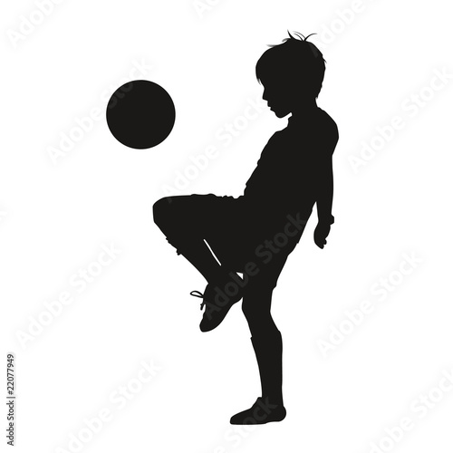 Silhouette garçon footballeur