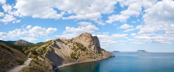 summer rocky coastline