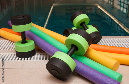 Fotografie, Obraz  Aqua Aerobics Equipment