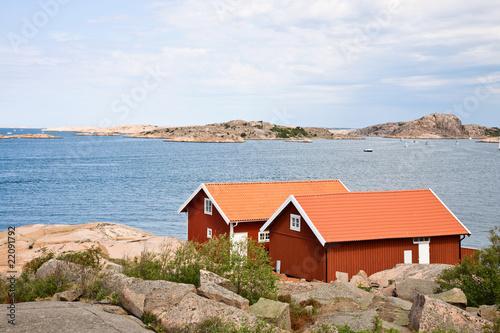 Foto op Aluminium Arctica Summer cottages