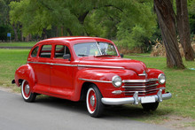 Red Old Fashioned Car