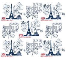 Papier Peint Au Motif De Paris