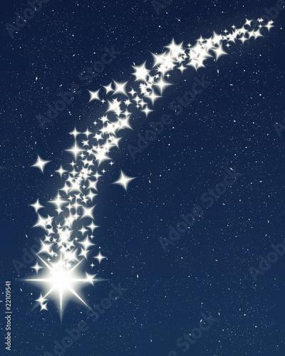 Obraz christmas wishing shooting star - fototapety do salonu