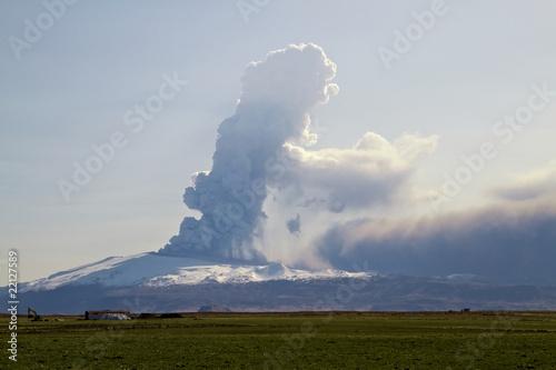 Poster Vulkaan Eyjafjallajokull volcano