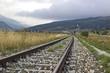 railroad on the italian mountains