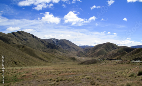 Photo  Rolling countryside in New Zealand