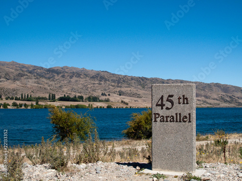 Photographie  45th parallel in New Zealand