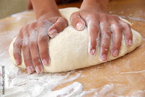 Fotografie, Obraz  Kneading  dough