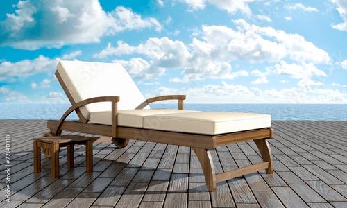 Photographie Chaise longue Resort