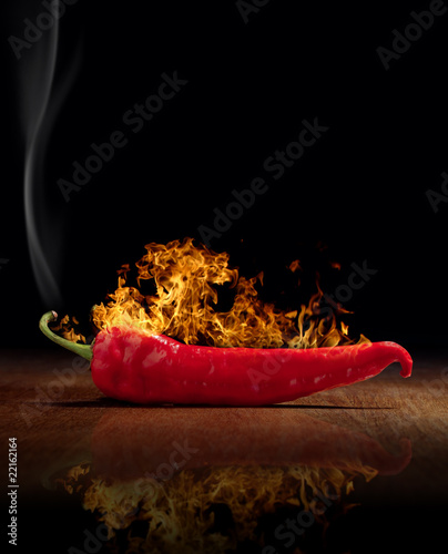 Canvas Prints Hot chili peppers red hot chili pepper burns