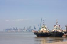 Tug Boats At Felixstowe Harbour