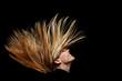 canvas print picture - Lange fliegende blonde Haare
