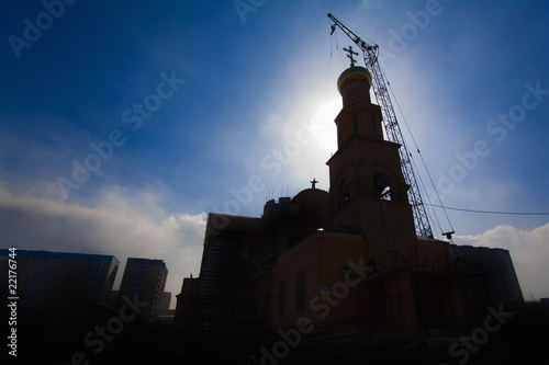Fényképezés  Russian Christian Church building.Religion