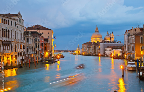 Poster Venise Grand canal at evening