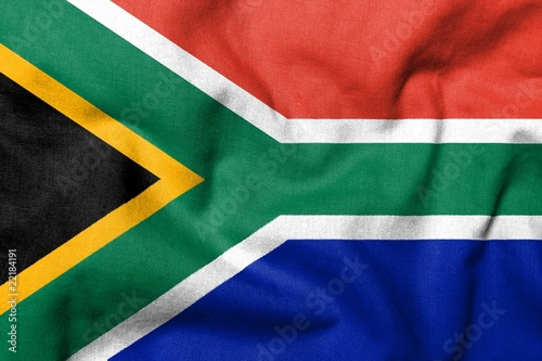 Foto op Canvas Zuid Afrika 3D Flag of South Africa