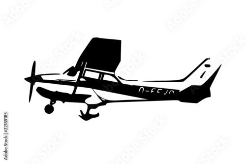 Wallpaper Mural Leichtflugzeug