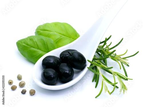 Recess Fitting Appetizer Schwarze Oliven