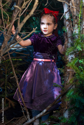 Fotografie, Obraz  snow white and a fairy tale, litle girl