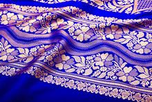 Indian Sari With Pleats Clouse Up