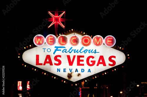 Fotobehang Las Vegas Las Vegas sign at night