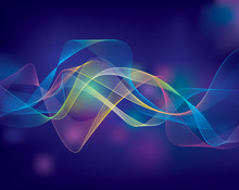 Colorful Abstract Flowing Background.