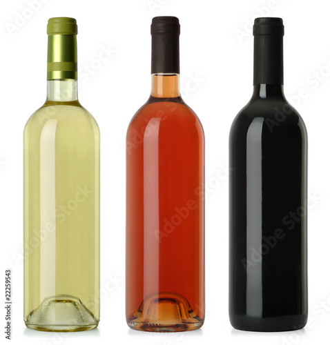 Fotografie, Obraz  Wine bottles blank no labels
