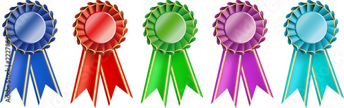 set  award ribbons Wallpaper Mural