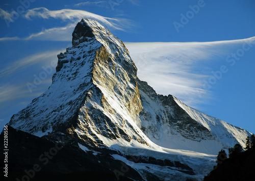 The Matterhorn in Switzerland. фототапет