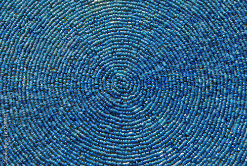 Fotografie, Obraz  blue beads texture
