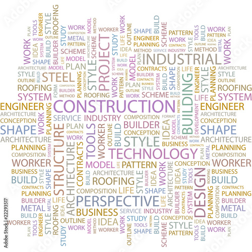 CONSTRUCTION. Word collage on white background. #22293517