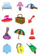 Children Cute Items in Vector