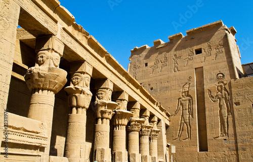Tuinposter Egypte Ägypten, Assuan, Philae-Tempel