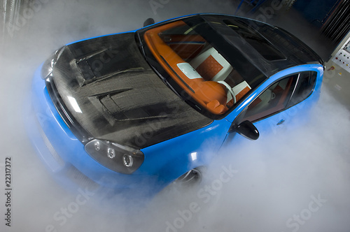 Poster Voitures rapides car fog