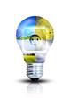 canvas print picture - kreatives Design von erneuerbaren Energien