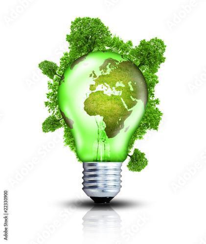 Grüner Strom aus erneuerbaren Energien Wallpaper Mural
