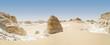 weiße Wüste, Ägypten, Panorama