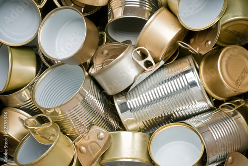 Fotomural Tin cans ready for recycling