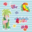 Summer stickers. Scrapbooking