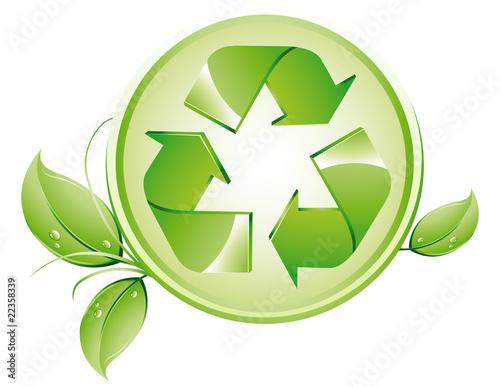 Fototapeta recykling_liscie obraz