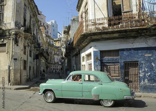Deurstickers Cubaanse oldtimers Belle américiane 7