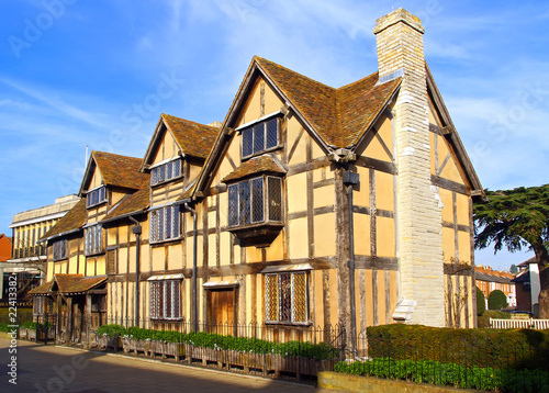 The Stratford shakespeares birthplace Canvas Print