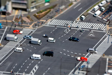 Crossing In Tokyo  - Real Tiltshift Photo, No Photoshop