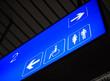 Leinwanddruck Bild - Toilet sign