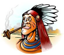 Indian Chief Smoking Tube