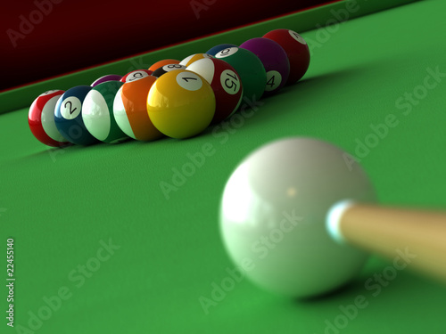 Fotografie, Obraz  Billiard