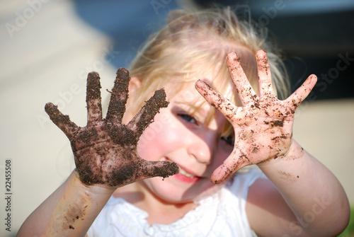 Fotografie, Obraz  Dirty Hands
