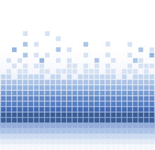 Abstract Blue Square Pixel Mosaic Background
